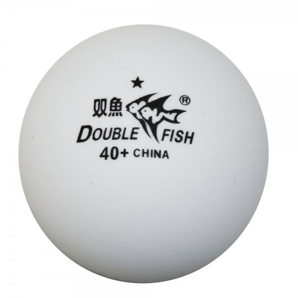 DOUBLE FISH 1*-Trainingsbälle 40+Plastikball weiß (72 Stück)