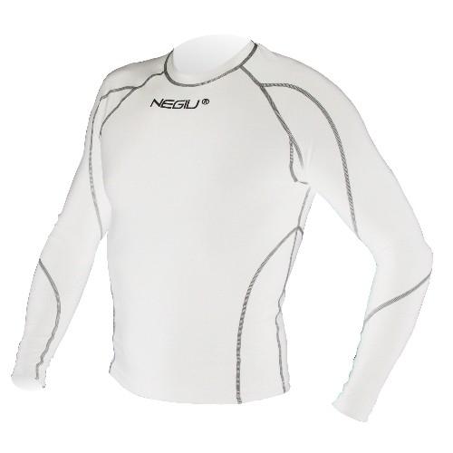 NEGIU Kompression-Longshirt (weiß)