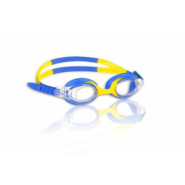 MALMSTEN Schwimmbrille Kinder Guppy (blau/gelb)