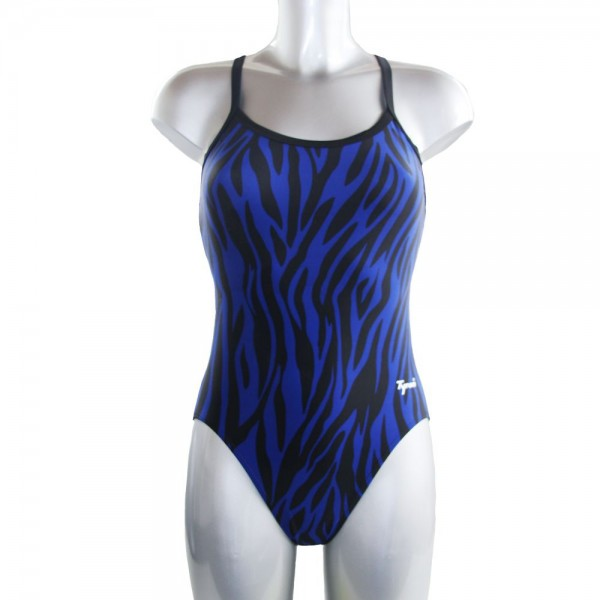 TYRON Badeanzug Stripes (blau)
