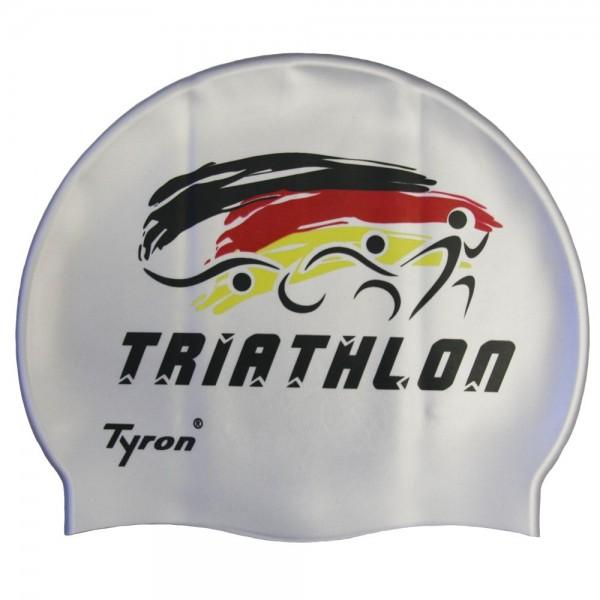 "TYRON Badekappe ""Triathlon"" (silber)"