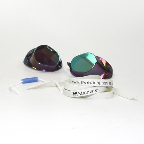MALMSTEN Schwedenbrille (blau-metallic)