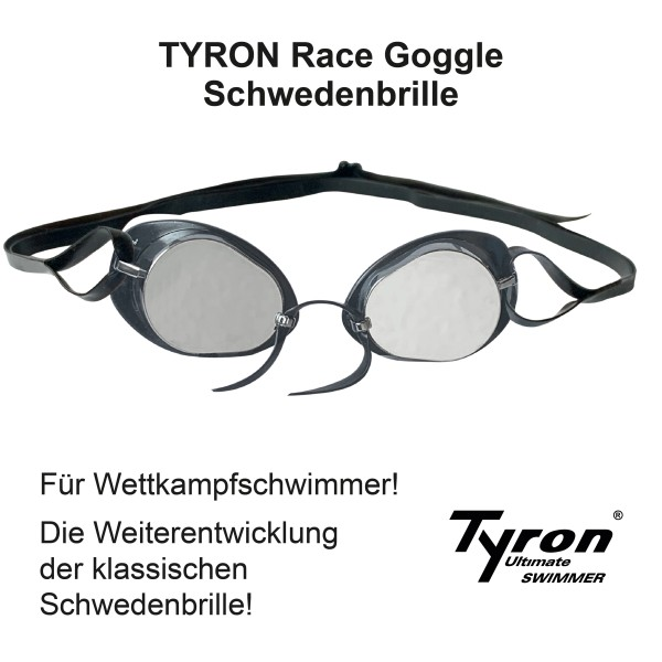 TYRON Performance Race Goggle (silber verspiegelt)