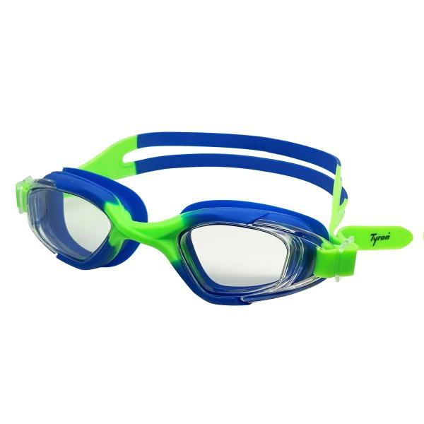 TYRON Kinder-Schwimmbrille Cobra (grün/blau)