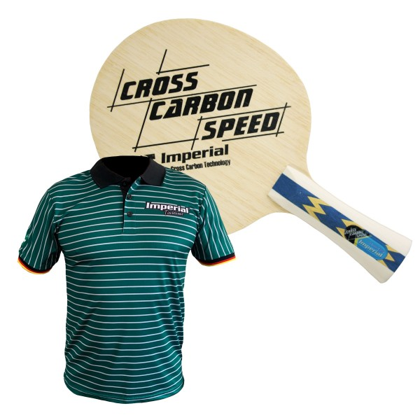 Kombiangebot KT-2171 (Imperail Cross Carbon Speed Holz + Poloshirt Germany)