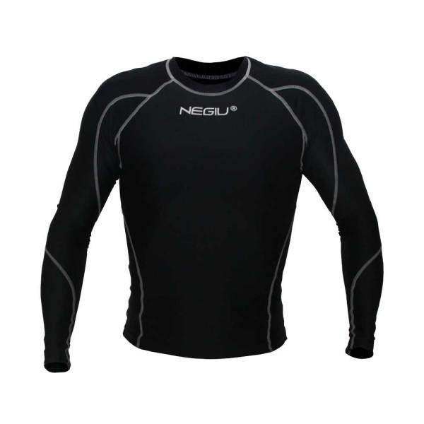NEGIU Kompression-Longshirt (schwarz)