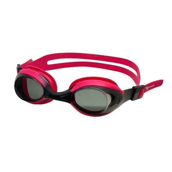 TYRON Kinder-Schwimmbrille Bubble (schwarz/pink)