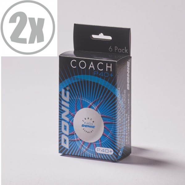 DONIC Coach P40+ (2x6er Packung = 12 Bälle)