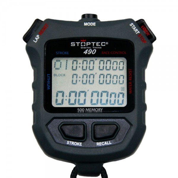 Stoppuhr STOPTEC 490 (500 File Memory / Race Control / Stroke)