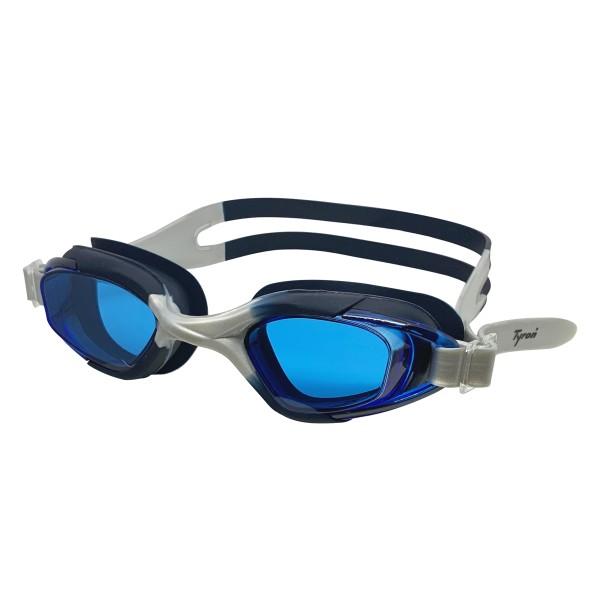 TYRON Kinder-Schwimmbrille Cobra (blau/silber)