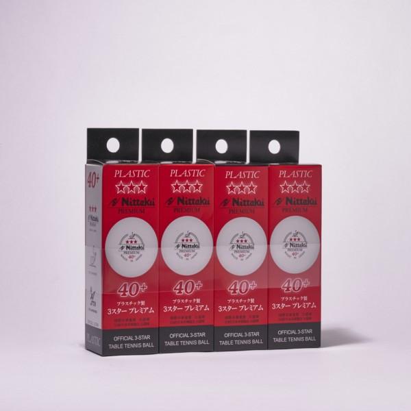 NITTAKU Premium 40+ (40x3er Packung = 120 Bälle)