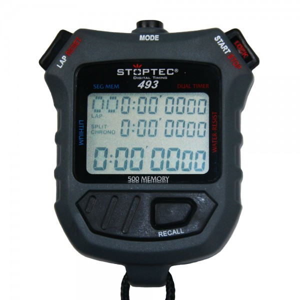 Stoppuhr STOPTEC 493 (500 File Memory / Dual Timer)
