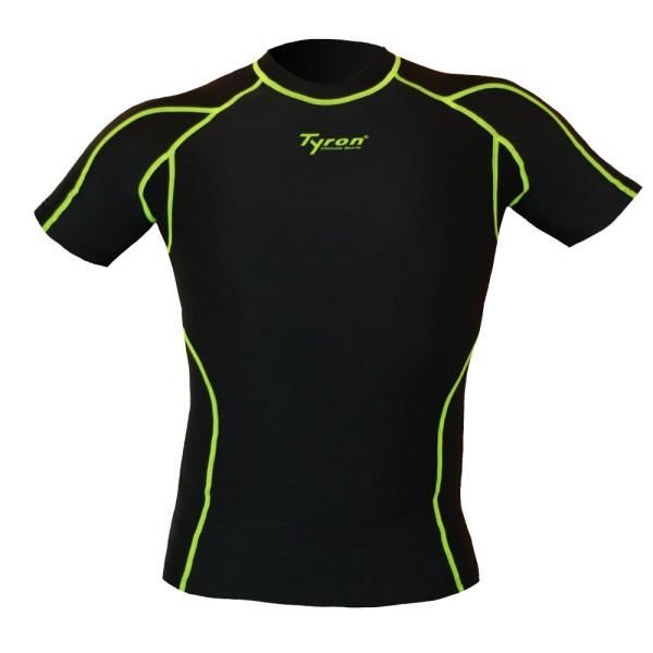 TYRON Kompressions-Shirt (schwarz)