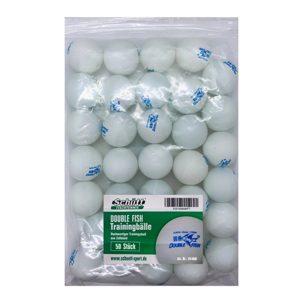 DOUBLE FISH Trainingsball (50 - weiß / Polybag)