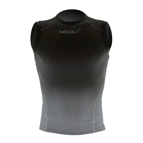 NEGIU Kompression-Shirt (ärmellos - schwarz)
