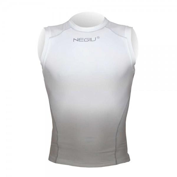 NEGIU Kompression-Shirt (ärmellos - weiß)
