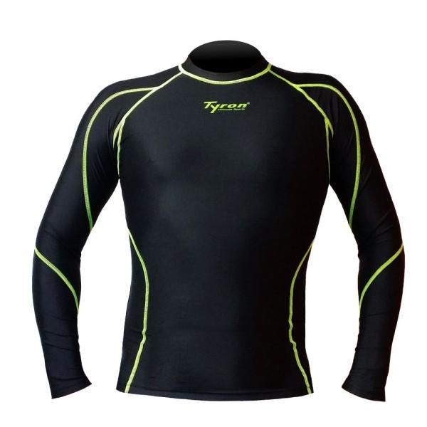 TYRON Kompressions-Longshirt (schwarz)