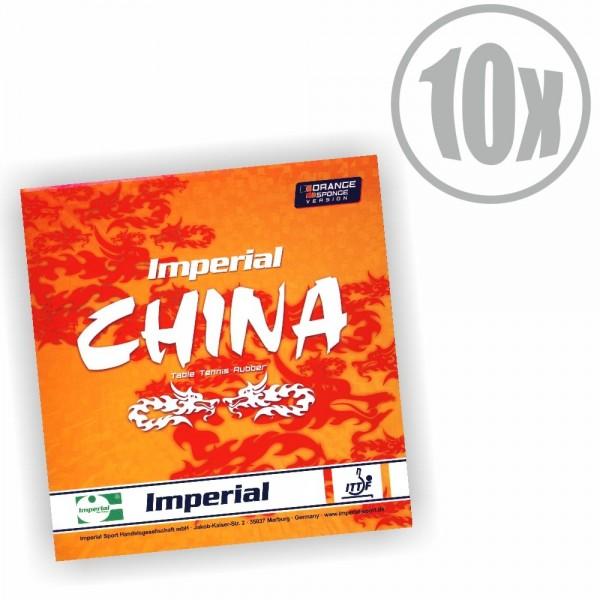10er Paket Imperial China Orange Sponge